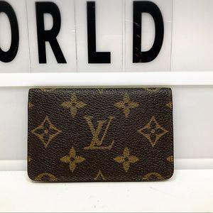 Louis Vuitton pocket organizer monogram card case